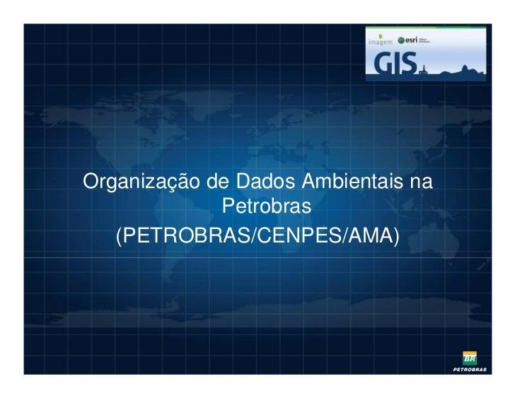 Organização de Dados Ambientais na             Petrobras   (PETROBRAS/CENPES/AMA)