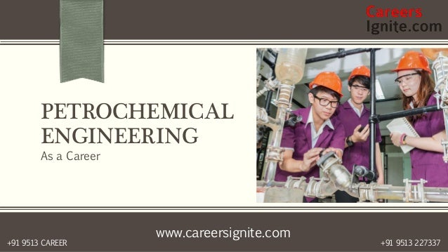 www.careersignite.com +91 9513 227337+91 9513 CAREER PETROCHEMICAL ENGINEERING As a Career