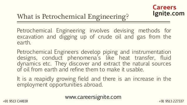 Petrochemical Engineering Courses, Colleges, Eligibility Slide 2