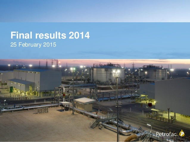 Final results 2014 25 February 2015
