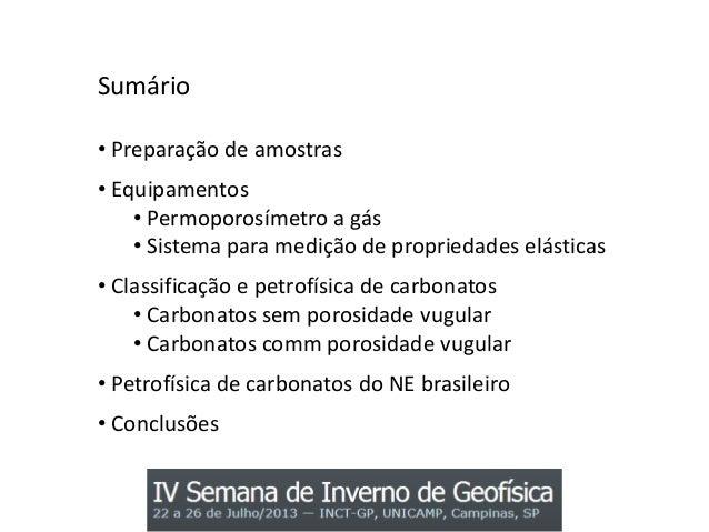 Petrofísica de carbonatos do nordeste brasileiro Slide 2