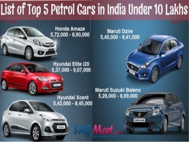 Get The List Of Top 5 Petrol Cars In India Under 10 Lacs