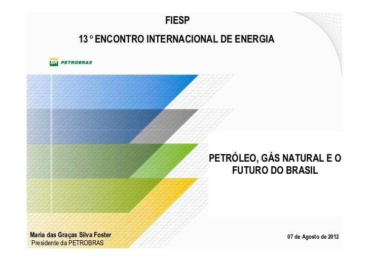 FIESP                 13° ENCONTRO INTERNACIONAL DE ENERGIA                                         PETRÓLEO, GÁS NATURAL ...