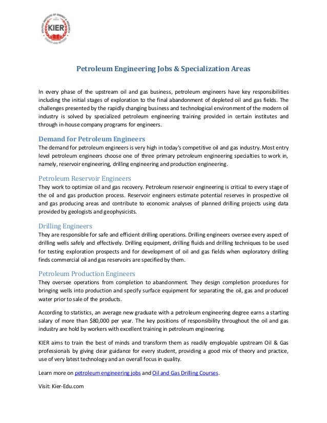 petroleum engineering jobs specialization areasin every phase of the upstream oil and gas business production