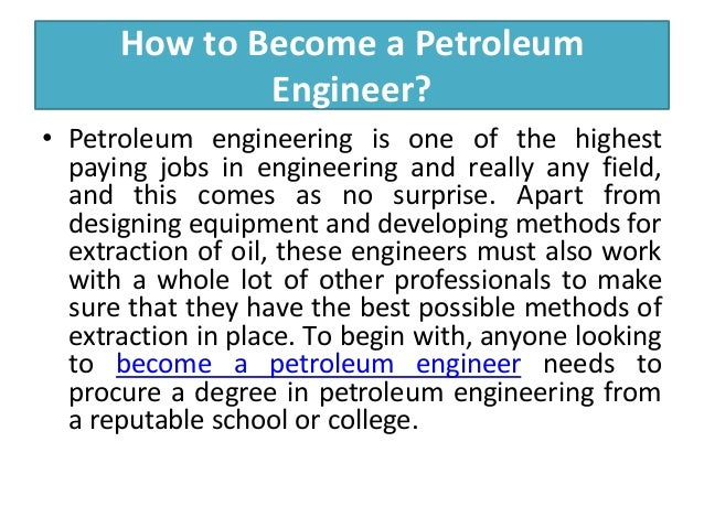 Find Top Petroleum Engineering Schools, Jobs and Salary in USA of 2014