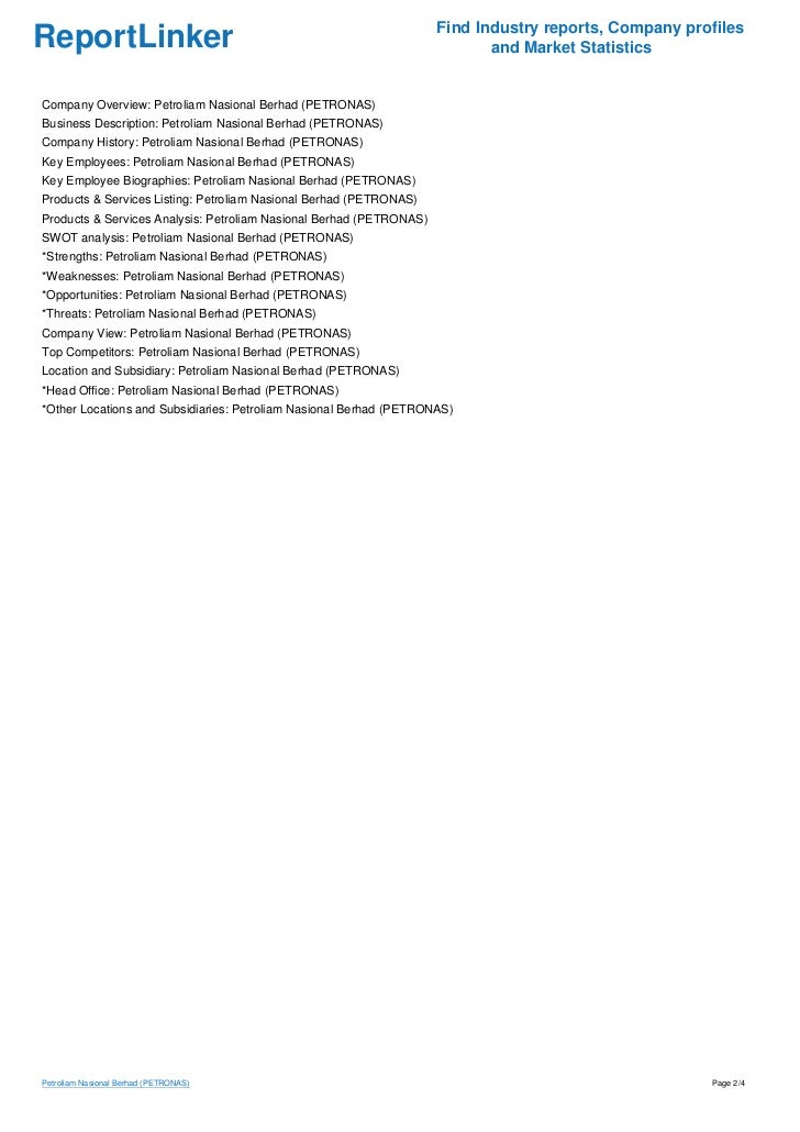 Petronas SWOT Analysis, Competitors & USP