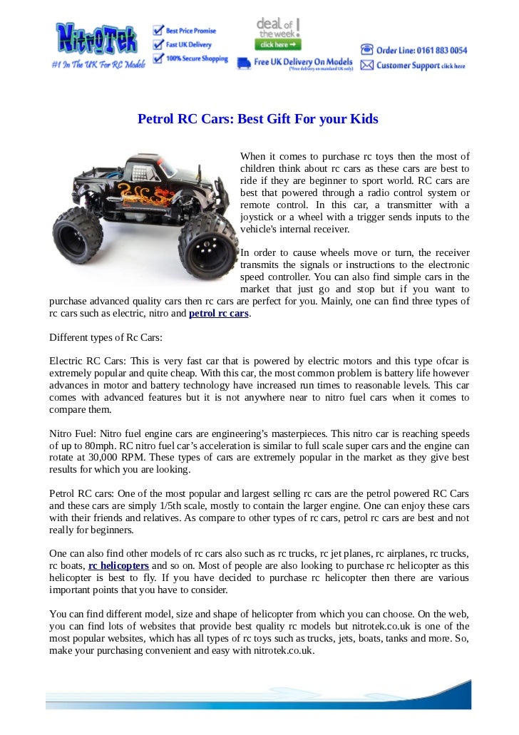 Petrol RC Cars: Best Gift For your Kids                                               When it comes to purchase rc toys th...