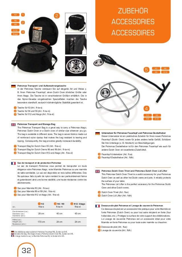 Petromax sac de transport pour feuertopf ft12 /& Atago Dutch Oven Extérieur Camping