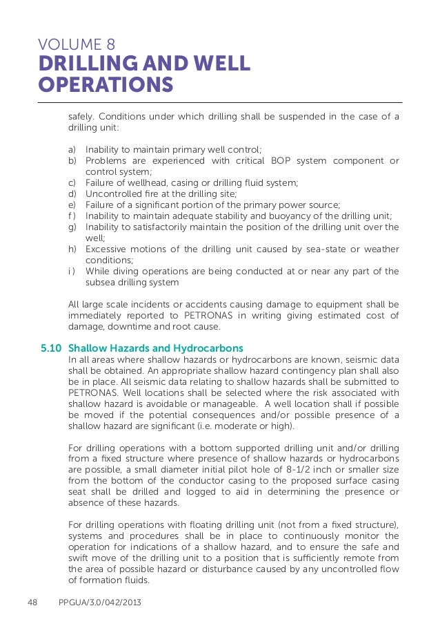 Petronas Drilling Operations Guideline