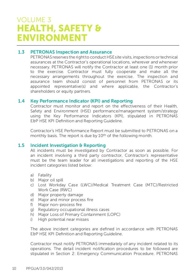 petronas health safety and environment guidelines hse rh slideshare net HSE Manual Template HSE Safety Manual