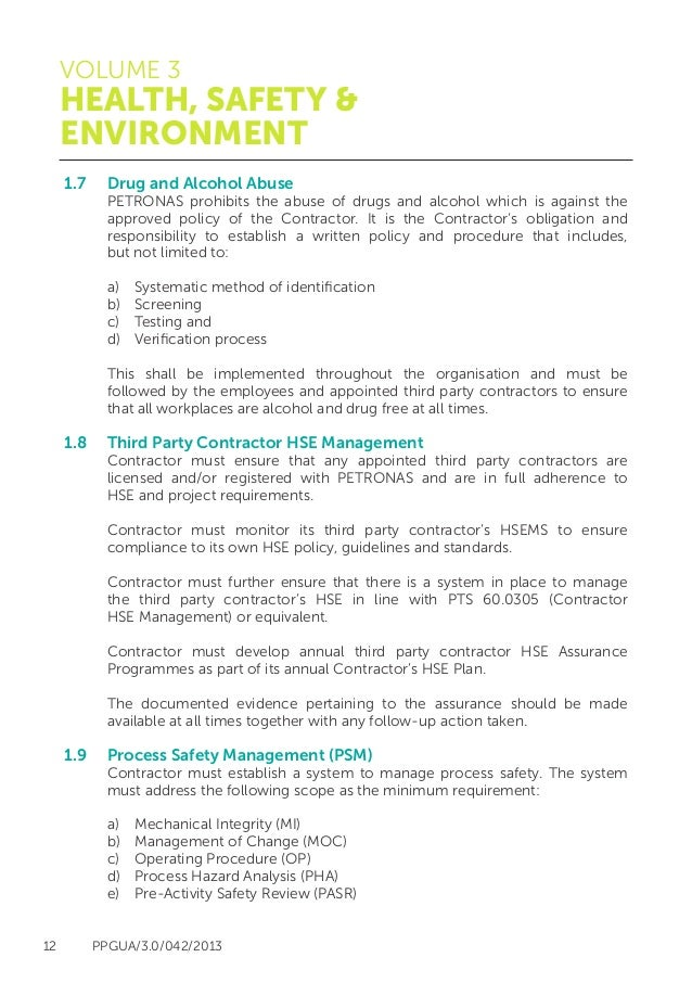 environmental health and safety plan template - safety policy template