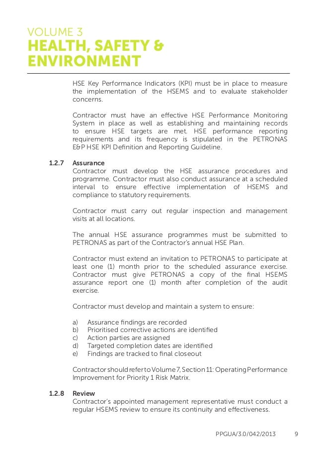 Petronas health, safety and environment guidelines (HSE)