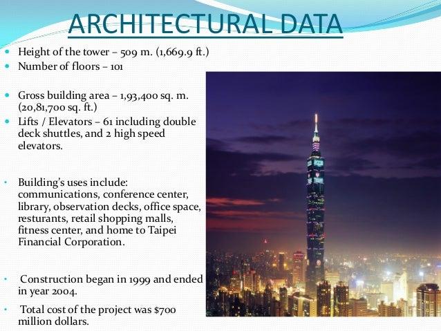 Petronas Twin Towers Taipei 101 Burj Al Arab