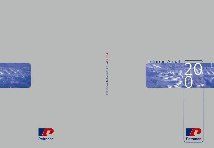 INFORME ANUAL    2004      Petronor