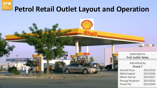 operations management at petrol retail outlet rh slideshare net Petrol Station Clip Art Petrol Station Plan