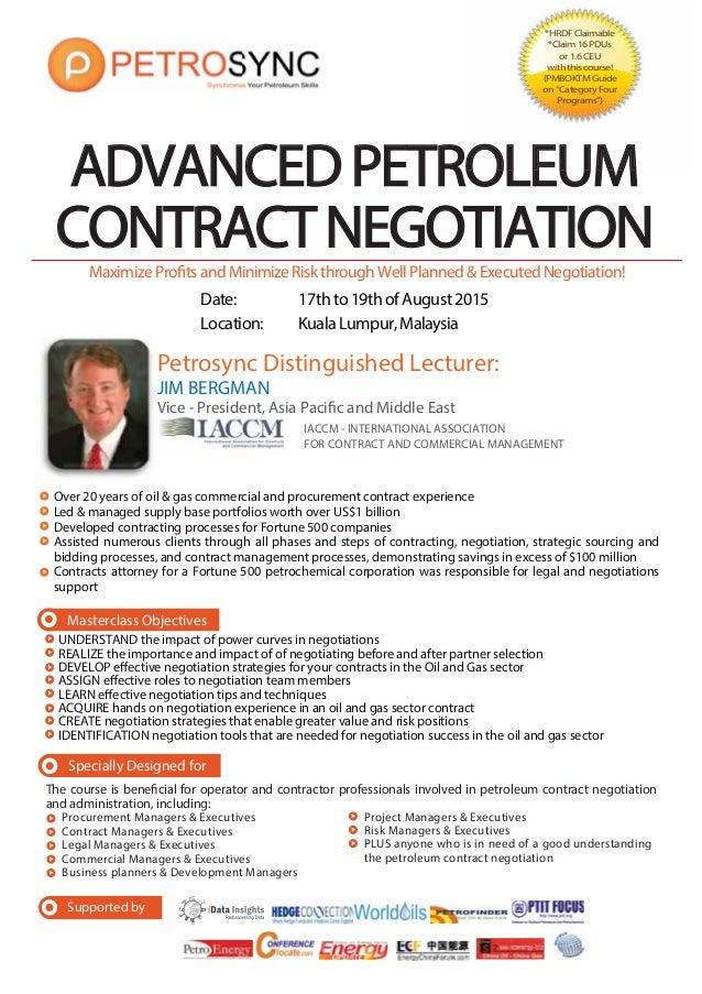 Petrosync Advanced Petroleum Contract Negotiation