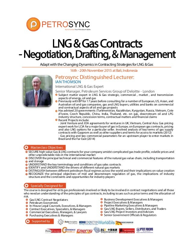 Petrosync Lng Gas Contract Negotiation Drafting Management