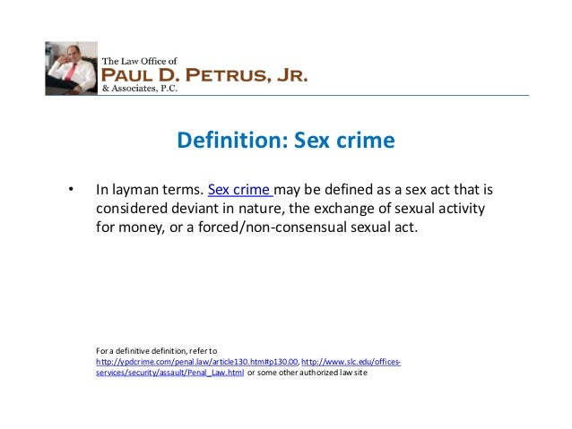 Define sex crime