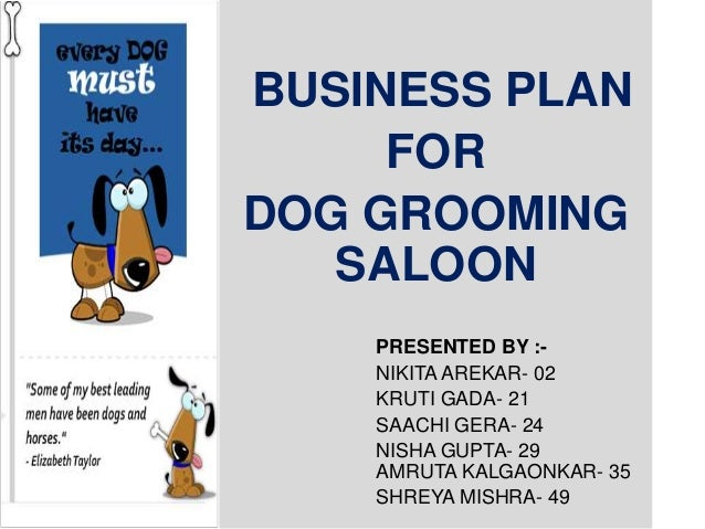 Grooming salon business plan