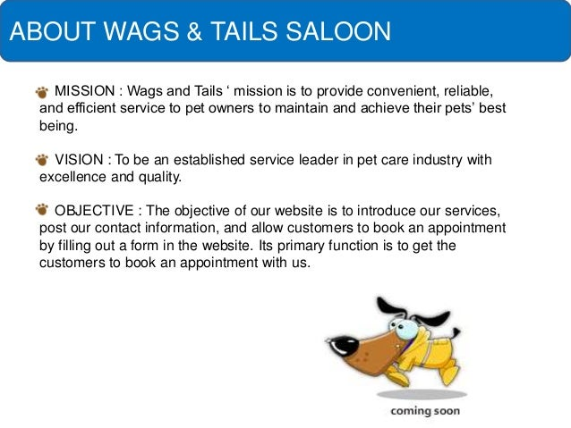 Pitch for pet salon for A wagging tail pet salon