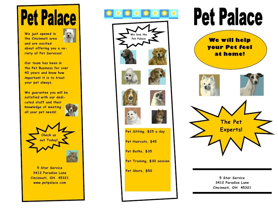 We just opened in             We love the the Cincinnati area           Pet Palace and are excited                        ...