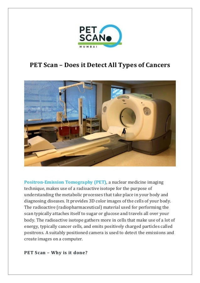 Pet Scan Does It Detect All Types Of Cancers