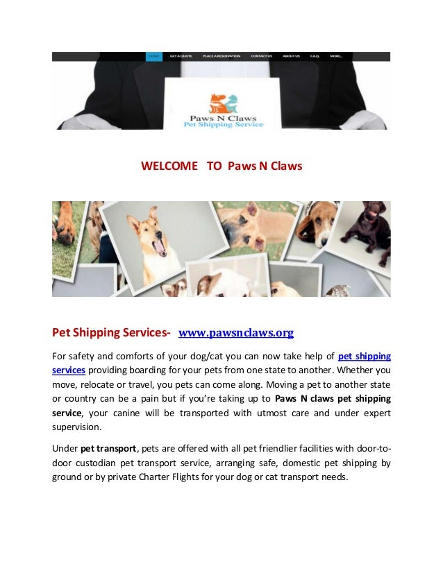 Pet shipping services pet transport company welcome to paws n claws pet shipping services pawsnclaws for safety sciox Gallery