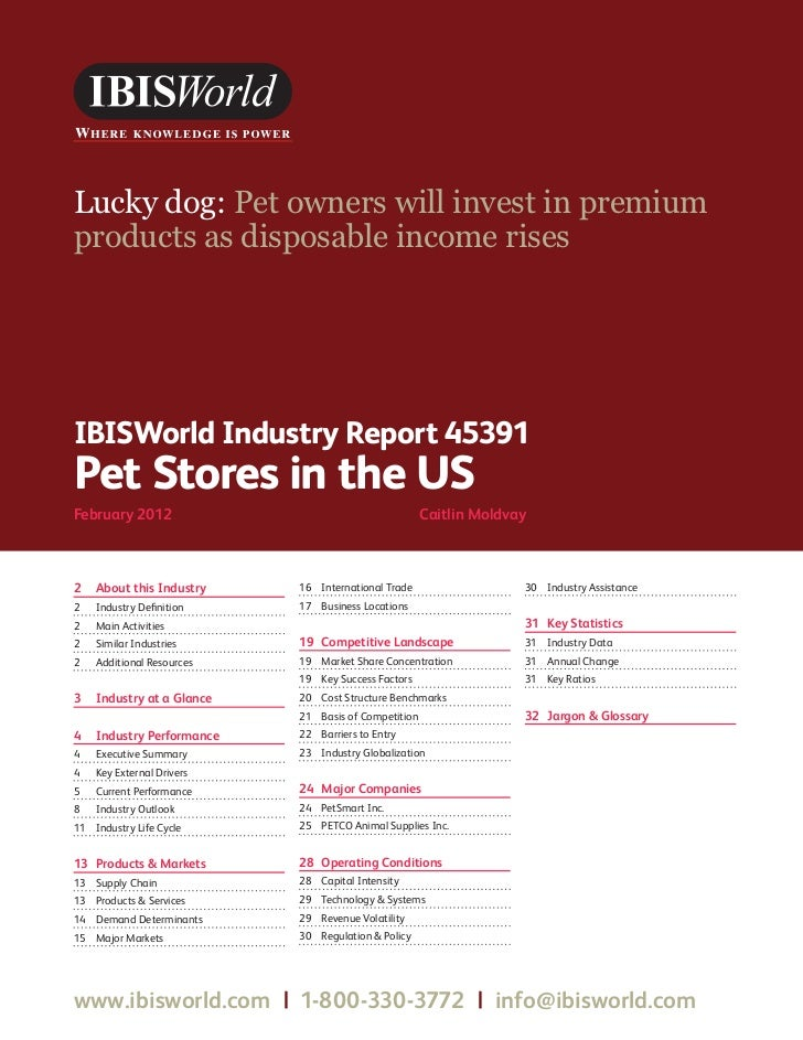 Pet store industry report