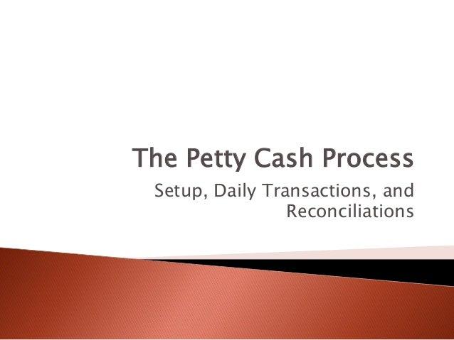 Petty Cash Management - Introduction to Petty Cash