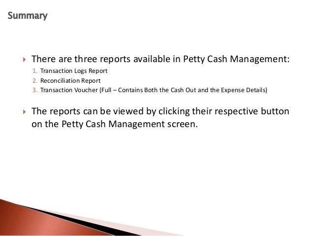 cash reports