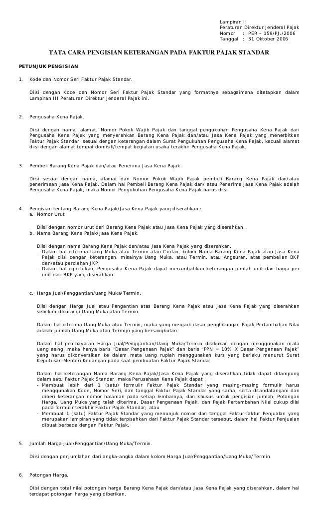 Petunjuk Pengisian Fp Standar