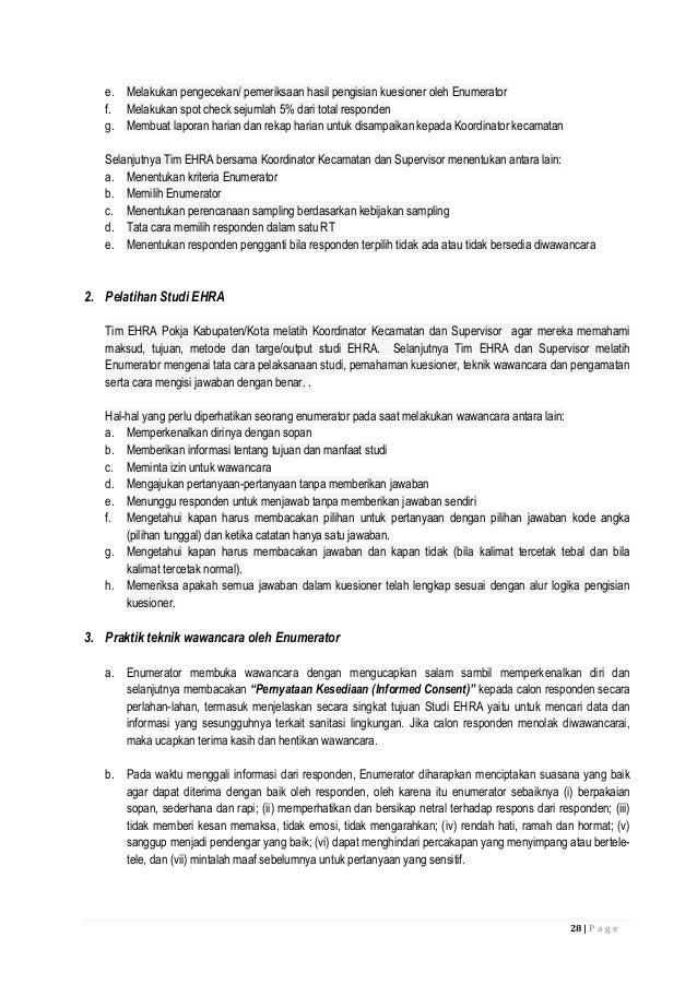 Pedoman Studi EHRA (Environmental Health Risk Assessment) 2014