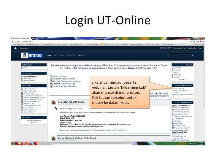 Petunjuk Singkat Webinar UT Slide 2