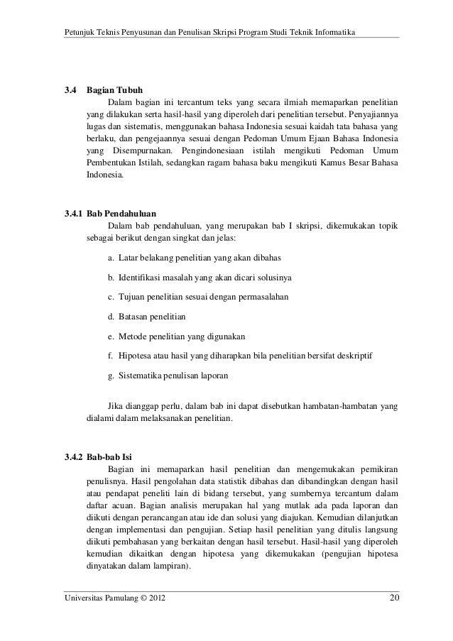 Contoh Identifikasi Masalah Dalam Skripsi Teknik Informatika لم