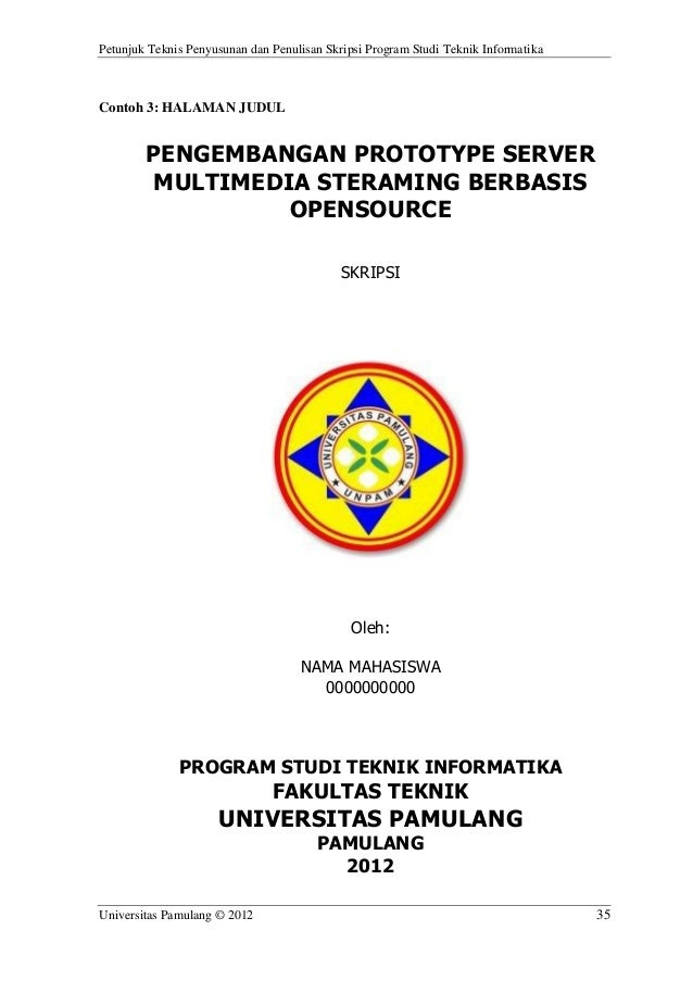 Contoh Cover Skripsi Unpam Contoh Soal Dan Materi Pelajaran 2