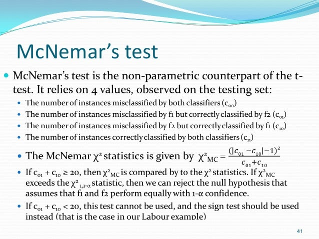 McNemar's test  41