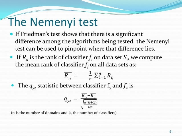 The Nemenyi test  51