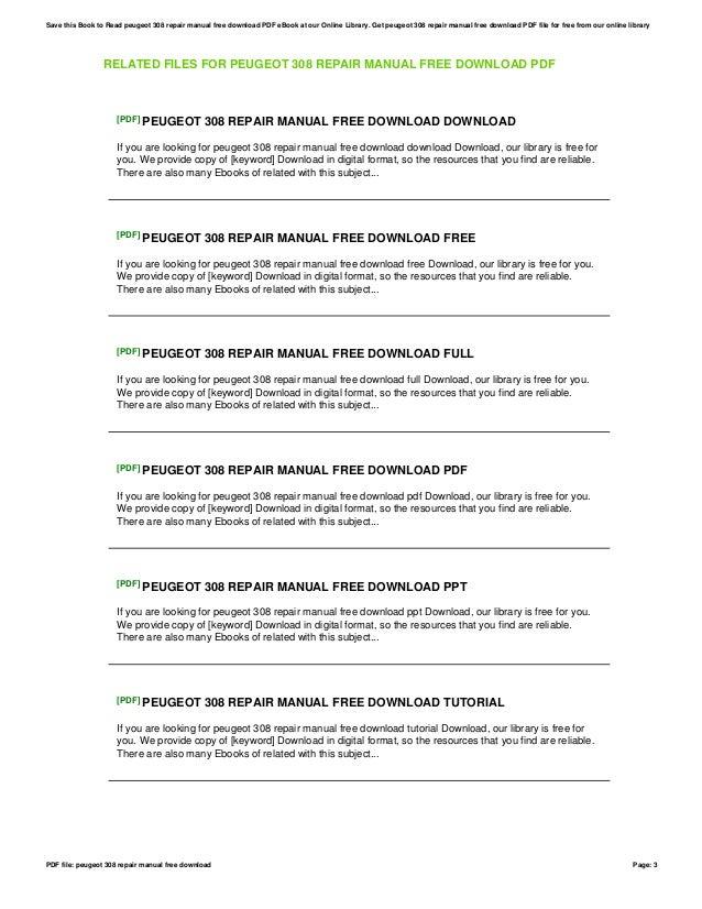 Parent directory index haynes manuals ebook array peugeot 308 repair manual free download rh slideshare net fandeluxe Choice Image