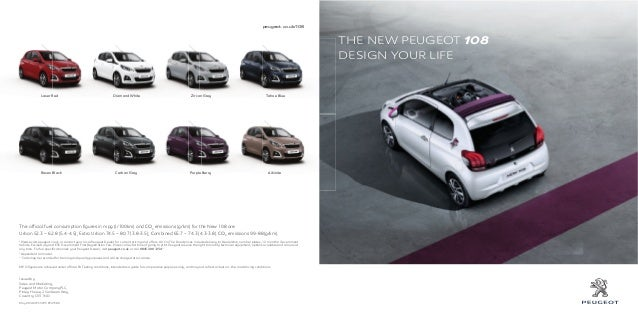 peugeot 108 range brochure. Black Bedroom Furniture Sets. Home Design Ideas