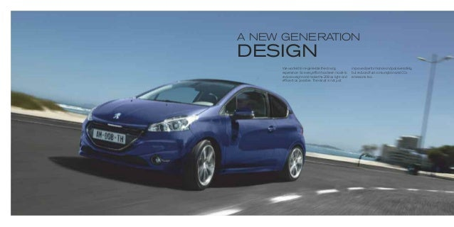 peugeot 208 range brochure. Black Bedroom Furniture Sets. Home Design Ideas