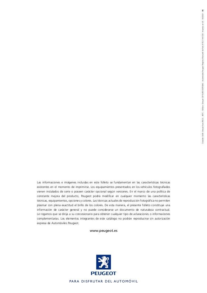 Creación: Edith Groupe Euro-RSCG - BETC - Edition: Groupe CEP EURO EDITIONS - Automóviles Peugeot Registro Mercantil de Pa...