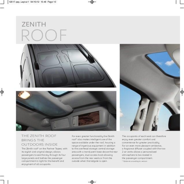 Peugeot Partner Tepee Range Brochure