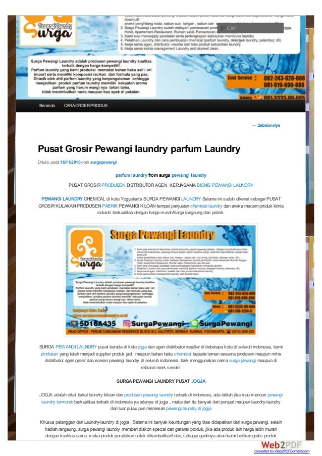 ←Sebelumnya Pusat Grosir Pewangi laundry parfum Laundry Ditulis pada 16/11/2016 oleh surgapewangi parfum laundry from surg...