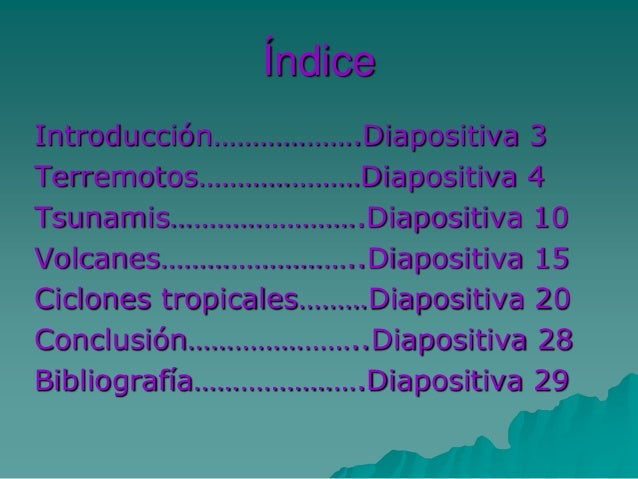Catástrofes naturales Slide 2