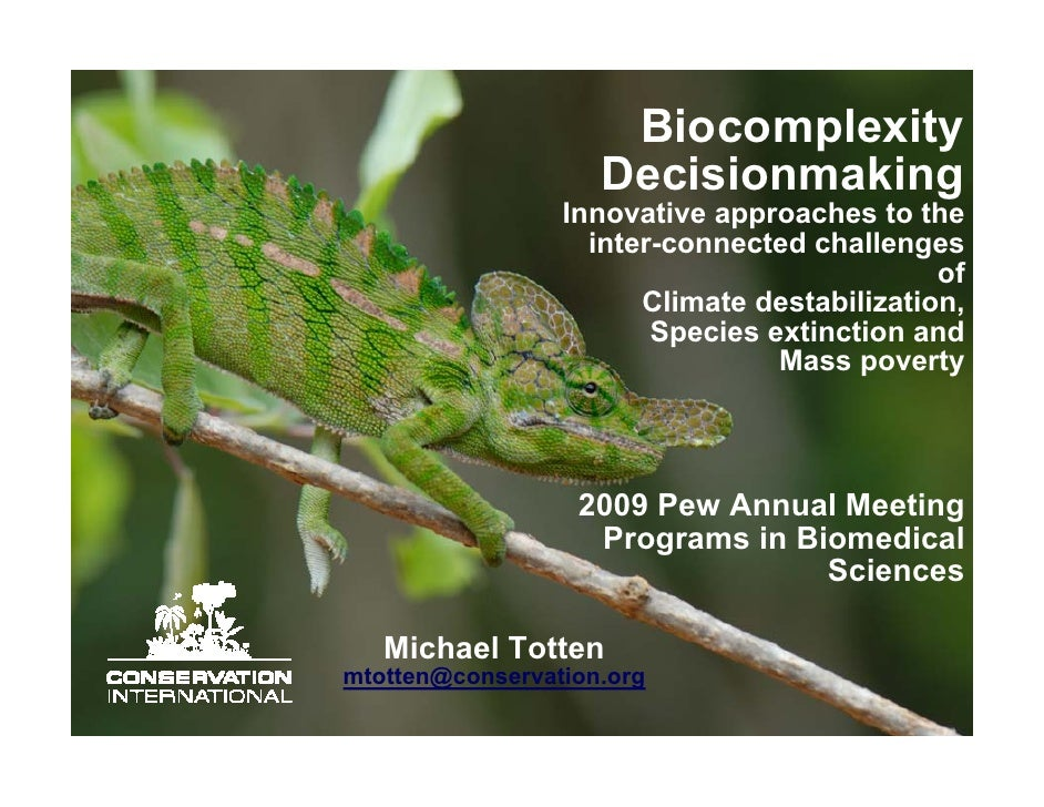 Biocomplexity                     Decisionmaking                  Innovative approaches to the                    inter-co...