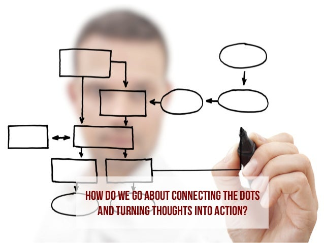 how do we go about Connecting the dots and turning thoughts into Action?