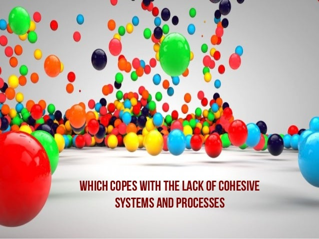 Which copes with the lack of cohesive systems and processes