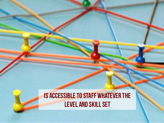 Is accessible to staff whatever the level and skill set