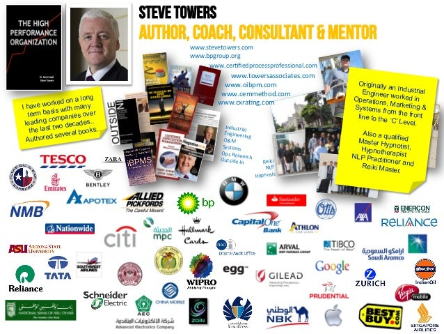 STEVE TOWERS  AUTHOR, COACH, CONSULTANT & MENTOR www.stevetowers.com                           ...