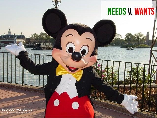 NEEDS V. WANTS  300,000  worldwide   Floirda/California/France/China/Japan
